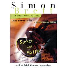 Sicken and So Die by Simon Brett