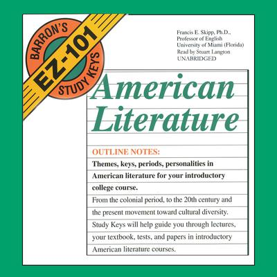 American Literature by Francis E. Skipp audiobook