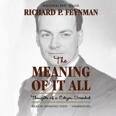 The Meaning of It All by Richard P. Feynman audiobook