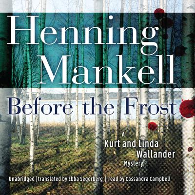 Before the Frost by Henning Mankell audiobook