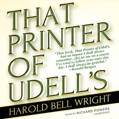 That Printer of Udell's by Harold Bell Wright audiobook