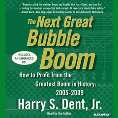 The Next Great Bubble Boom by Harry S. Dent audiobook