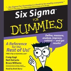 Six Sigma For Dummies by Craig Gygi audiobook