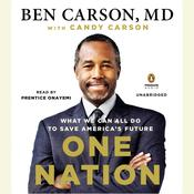 One Nation by  Ben Carson MD audiobook