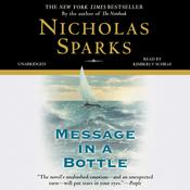 Message in a Bottle by  Nicholas Sparks audiobook
