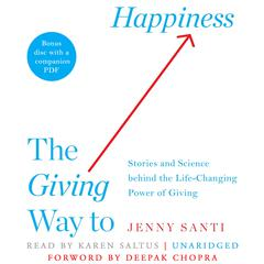 The Giving Way to Happiness by Jenny Santi audiobook