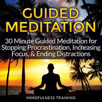Guided Meditation: 30 Minute Guided Meditation for Stopping Procrastination, Increasing Focus, & Ending Distractions (Deep Sleep Self Hypnosis, Law of Attraction Affirmations, Anxiety & Stress Relief, Guided Imagery & Relaxation Techniques) by Mindfulness Training audiobook