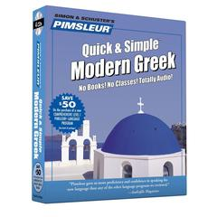 Pimsleur Greek (Modern) Quick & Simple Course - Level 1 Lessons 1-8 by Paul Pimsleur audiobook