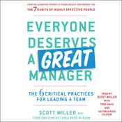 Everyone Deserves a Great Manager by  Scott Jeffrey Miller audiobook