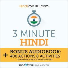 3-Minute Hindi by Innovative Language Learning audiobook