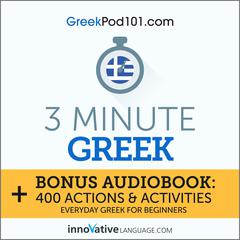 3-Minute Greek by Innovative Language Learning audiobook